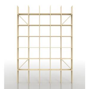 壁面書棚 本棚 おしゃれ 家具 壁一面 オープンシェルフ 梁下まで|margherita