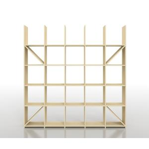 デザイナーや建築家のアトリエにあるようなシンプルで丈夫なオープンシェルフ、縦5コマ×横5コマタイプで...