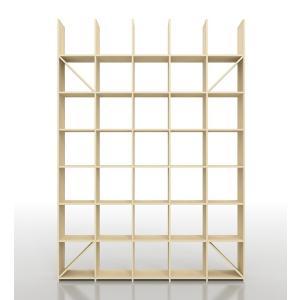 デザイナーや建築家のアトリエにあるようなシンプルで丈夫な壁一面の本棚、縦7コマ×横5コマタイプです。...