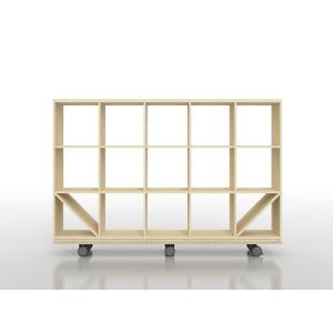 本棚やディスプレイ棚としてお使いいただけるオープンシェルフとキャスターベースのセット商品です。本棚を...