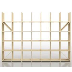 デザイナーや建築家のアトリエにあるようなシンプルで丈夫なオープンシェルフ、縦5コマ×横7コマタイプで...