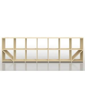 本棚やディスプレイ棚としてお使いいただけるオープンシェルフです。背板がなく表裏どちらかも利用できるの...