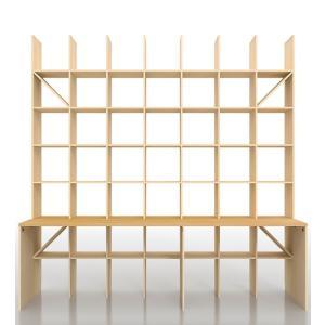 本棚 壁面収納家具 机付き本棚 壁一面 オフィス家具 おしゃれ|margherita