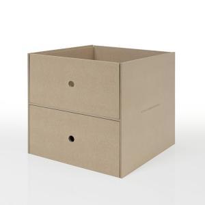 本棚 壁面書棚 壁一面本棚 A4書類収納引き出し 2段(奥行350本棚専用)|margherita