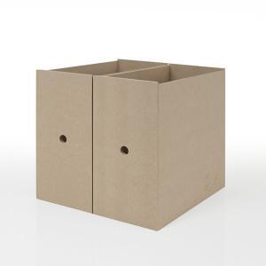 本棚 壁面書棚 壁一面本棚 引き出しファイルボックス 2列(奥行350本棚専用)|margherita