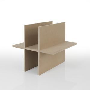 本棚 壁面書棚 壁一面本棚 仕切り板 2段×3列(奥行350本棚専用) margherita