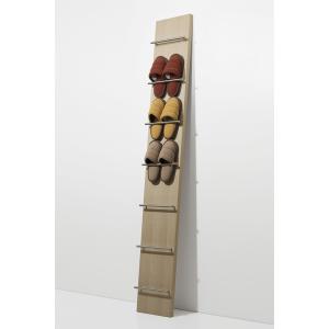 壁掛けスリッパラック スリッパ立て 木製 スリッパラック 見せる 玄関収納 壁立て掛け 玄関インテリア|margherita