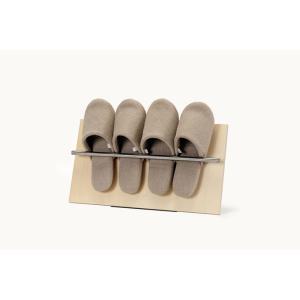 スリッパラック おしゃれ 木製 コンパクトラック 薄型 ディスプレイ 玄関 オフィス|margherita
