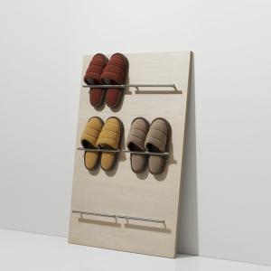 スリッパラック 6足 スリッパ立て 木製 飾る 玄関ラック 壁立てかけ ロータイプ 収納 コンパクト|margherita