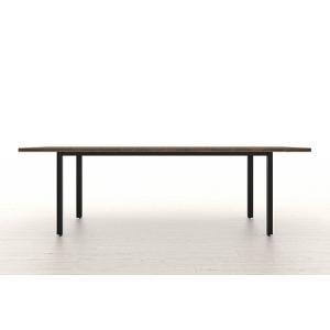 ダイニングテーブル 木製 天板 240 スプルス積層パネル ウォールナット調 スチール脚 幅2400×奥行900mm シンプル おしゃれ margherita