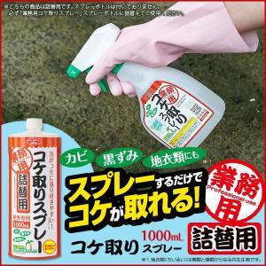 コケ取り剤 苔取り剤 外壁 スプレー 除去 業務用 詰替用 1L