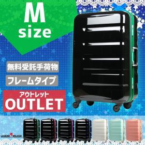 人気急上昇レジェンドウォーカー 中型カラーフレームスーツケース   素材:ポリカーボネート100%樹...