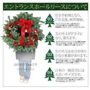 クリスマスリース[ オレゴンモミのエントランス...の詳細画像4