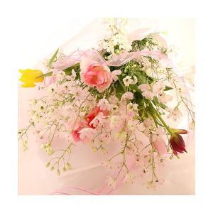 チューリップ 花束 チューリップの花束さくら 予約 生花 チューリップ プレゼント誕生日 ギフト 贈り物 ギフト