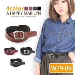 大きいサイズ レディース ベルト ウエスト7〜8cmまで対応可 シンプル エナメル ベルト ベルト アクセ 30代 40代 ファッション marilyn