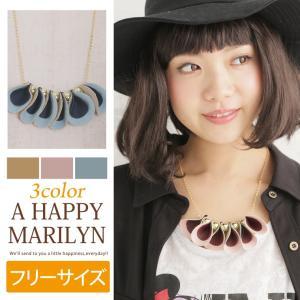 レディース ネックレス フェイクレザー×ゴールドボール ネックレス ネックレス アクセサリー アクセ フリー 30代 40代 ファッション|marilyn