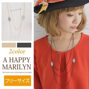 レディース ネックレス メタルモチーフ 3連ネックレス アクセサリー 30代40代50代 ファッション|marilyn
