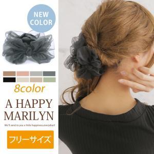 レディース ヘアアクセサリー 新色追加 ふんわり シフォン リボン ワニクリップ ヘアアクセ ピン 30代 40代 ファッション|marilyn