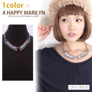 レディース ネックレス カラフル ストーン つけ襟風 ネックレス 30代40代50代 ファッション|marilyn