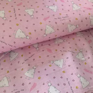■ダブルガーゼ生地■わたしのワンピース(ピンク)