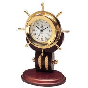 ホイール型クロック(時計) 382C ラット 舵輪|marine-guide