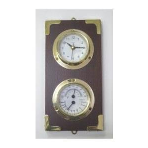 マリン時計・温湿度計(木製台付) 贈り物 人気 壁掛け|marine-guide