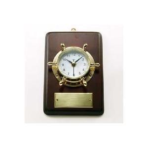 マリン時計ラットS(木製台付) 刻印プレート 贈り物|marine-guide