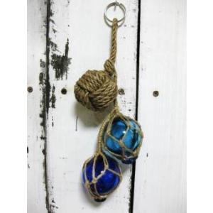 2インチ3連オーナメント ガラス玉 浮き球 マリン雑貨 |marine-guide