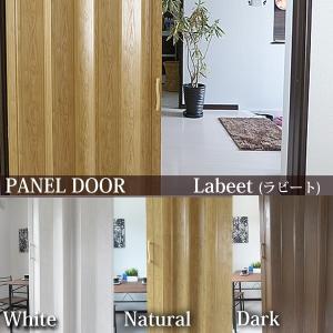 【幅・高さ調整オプション有り】 パネルドア Labeet ラビート(部屋の間仕切りに最適)幅100cm×高さ176cm 木目柄の写真