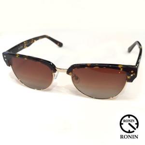 RONIN ロニン サングラス 50/50 GOLDPOLAIZED GRAY 偏光レンズ|mariner