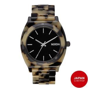 NIXON ニクソン腕時計 THE TIME TELLER ACETATE TORTOISE/CREAM|mariner