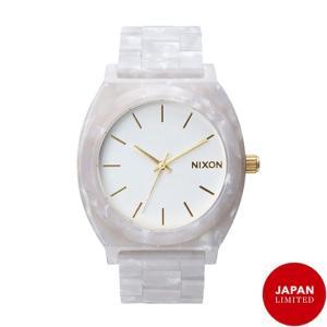 NIXON ニクソン腕時計 THE TIME TELLER ACETATE WHITE GRANITE/GOLD|mariner