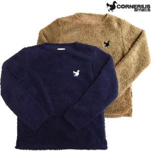 CORNERIUS amaca コーネリアスアマーカ ボア ロングスリーブTシャツ/メンズウェア 長袖 mariner