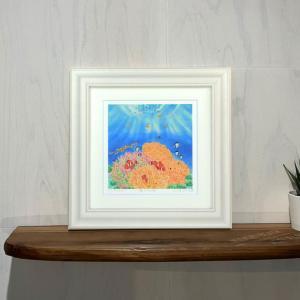 絵画 海の花畑 栗乃木ハルミ サーフィン インテリア フラグッズ|mariner