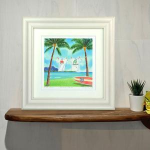 絵画 Beach park 栗乃木ハルミ サーフィン インテリア フラグッズ|mariner