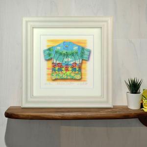 絵画 「Aloha/hula」 栗乃木ハルミ/ サーフィン インテリア フラグッズ ハワイ hk0124|mariner