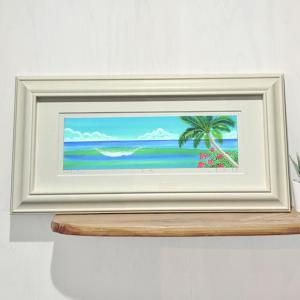 絵画 surf green/栗乃木ハルミ サーフィン インテリア フラグッズ hk0143|mariner