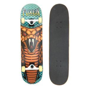 Foxen スケートボードスケートボード 8.75インチ テールキック メープルデッキ 高品質 初心者 コンプリート mariner