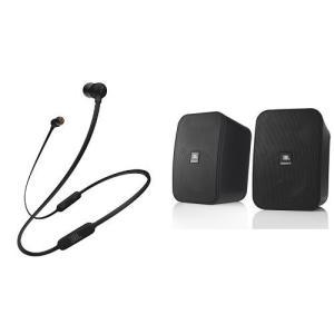 JBL T110BT Bluetooth イヤホン ブラック + CONTROLX 2ウェイコンパク...