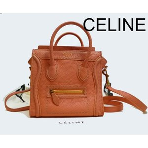 CELINE/セリーヌ 限定ピンク ラゲージ ナノショッパー 2WAYバッグ美品
