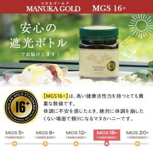 マヌカハニー MGS 16+ MG 600+ 250g 【送料無料】 マリリニュージーランド 無添加 非加熱  マヌカはちみつ maririnz-manukahoney 05