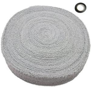 厚手 汗の乾きが早い 綿 グリップ テープ タオル たっぷり 10メートル バドミントン エンドテープ付き テニス スカッシュ にも使える (グレー) maritakashop