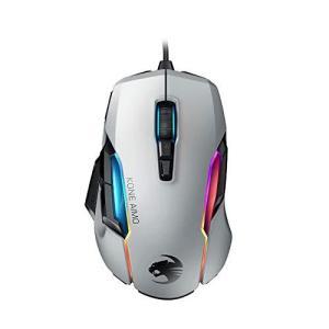 ROCCAT Kone AIMO Remastered RGBA スマートカスタマイズ ゲーミングマウス (光学式 Owl-Eye 16K, サイドボタン) ホワイト (国内正規品) ROC-11-820-WE|maritakashop