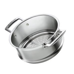ルクルーゼ スチーマー 蒸し器 ステンレス ココット ロンド 20cm用 940071-20