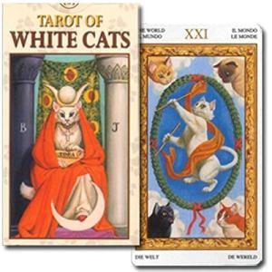 【猫好きに贈る猫づくしのタロットカード!】ミニチュア・ホワイトキャッツ・タロット|maritakashop