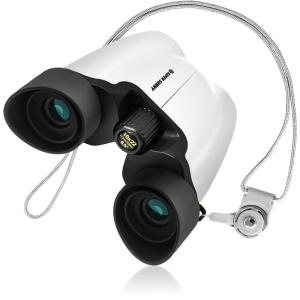SuperSunny 双眼鏡 10倍 コンサート用 手ブレしにくい改良版 超軽量でおすすめ ホワイト|maritakashop
