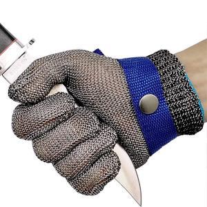 Linodes 耐切創 作業用手袋 ステンレス鋼メッシュ防護手袋 切れない グローブ(片手)左右 兼用 専用軍手 付き L maritakashop