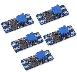Anmbest 5個セット MT3608ステップアップ調整可能なDC-DCスイッチングブーストコンバータ電源モジュール2-24V〜5V-28V 2A maritakashop