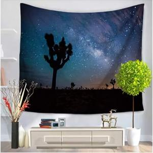 TRAVEL CAT 夜景 自然 夜空 風景 タペストリー インテリア 150*130cm 暖簾 カ...