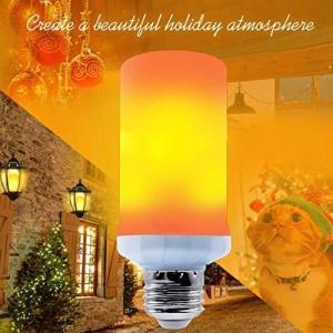 【2020年改良型】キャンドルライト イルミネーション 飾り led電球 フレームランプ 蝋燭ロウソク 揺らぐ炎 装飾 省エネe26 3モードイルミネーション 濃い電球色|maritakashop